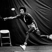 Arthur Ashe Returning Tennis Ball Print by Retro Images Archive