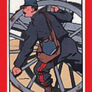 Artilleur 1915 With Fgb Border Print by A Morddel