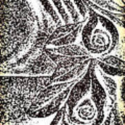Artistic Hand And Flowers Print by Pat Exum