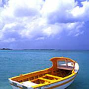 Aruba. Fishing Boat Print by Anonymous