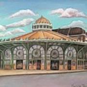 Asbury Park Carousel House Print by Melinda Saminski