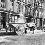 Ash Cart New York City 1896 Print by Unknown