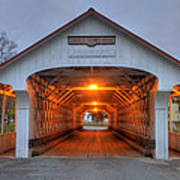 Ashuelot Covered Bridge Print by Joann Vitali