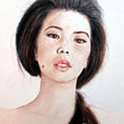 Asian Beauty Print by Jim Fitzpatrick