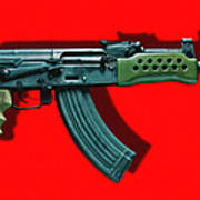 Assault Rifle Pop Art - 20130120 - V1 Print by Wingsdomain Art and Photography