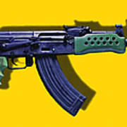 Assault Rifle Pop Art - 20130120 - V2 Print by Wingsdomain Art and Photography