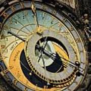 Astronomical Clock In Prague Print by Jelena Jovanovic