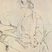 At The Cafe Print by Henri de Toulouse-Lautrec