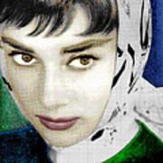 Audrey Hepburn Print by Tony Rubino
