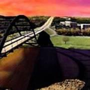 Austin 360 Bridge Print by Marilyn Hunt