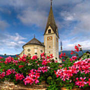 Austrian Church Print by Debra and Dave Vanderlaan