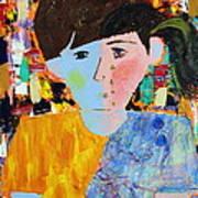 Autism - Child And Mother Print by Carmencita Balagtas