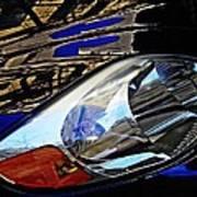 Auto Headlight 113 Print by Sarah Loft