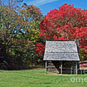 Autum For A Mountain Home Print by Skip Willits