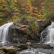 Autumn Cascades Print by Debra and Dave Vanderlaan