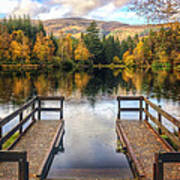 Autumn In Glencoe Lochan Print by Dave Bowman