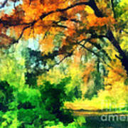 Autumn In The Woods Print by Odon Czintos