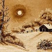 Autumn Snow Print by Barbara Griffin