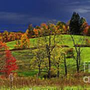 Autumn Storm Print by Thomas R Fletcher