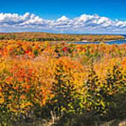 Autumn Vistas Of Nicolet Bay Print by Mark David Zahn
