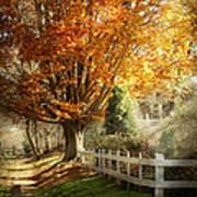 Autumn - Westfield Nj - I Love Autumn Print by Mike Savad