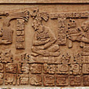 Aztec Woodcarving Tablets Print by Viktor Savchenko