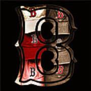 B For Bosox - Vintage Boston Poster Print by Joann Vitali