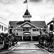Balboa California Main Street Black And White Picture Print by Paul Velgos