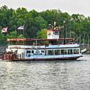 Bama Belle On The Black Warrior River Print by Ben Shields