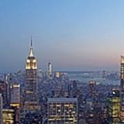 Bank Of America And Empire State Building Print by Juergen Roth