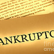 Bankruptcy Notice Print by Olivier Le Queinec