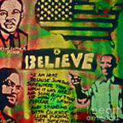 Barack And Martin And Malcolm Print by Tony B Conscious