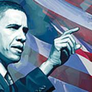 Barack Obama Artwork 2 Print by Sheraz A