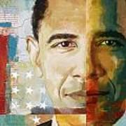 Barack Obama Print by Corporate Art Task Force