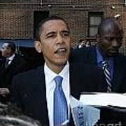 Barack Obama Nyc 4-9-07 Print by Patrick Morgan