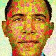 Barack Obama - Maple Leaves Print by Samuel Majcen