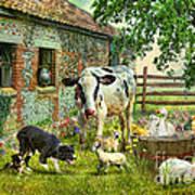Barnyard Chatter Print by Trudi Simmonds