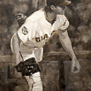 Barry Zito - Redemption Print by Darren Kerr