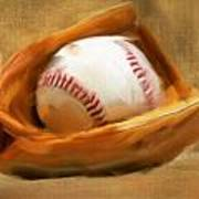 Baseball V Print by Lourry Legarde