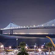 Bay Bridge Grand Lighting Ceremony Print by David Yu