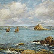 Bay Of Douarnenez Print by Eugene Louis Boudin