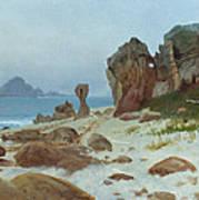Bay Of Monterey Print by Albert Bierstadt
