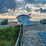 Beach Entrance To Old Glory Print by Ian Monk