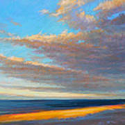 Beach Front Print by Ed Chesnovitch