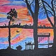 Beach Silhouette Print by Sonali Gangane