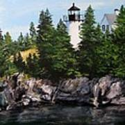 Bear Island Lighthouse Print by Jack Skinner