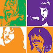 Beatles Vinil Cover Colors Project No.02 Print by Caio Caldas