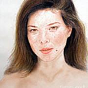 Beautiful Actress Jeananne Goossen Print by Jim Fitzpatrick