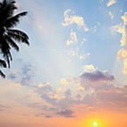 Beautiful Tropical Sunset Print by Nila Newsom