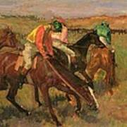 Before The Races Print by Edgar Degas